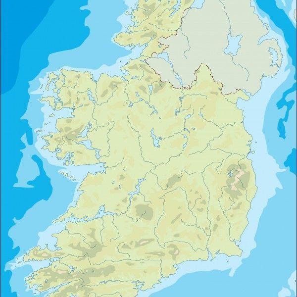ireland illustrator map