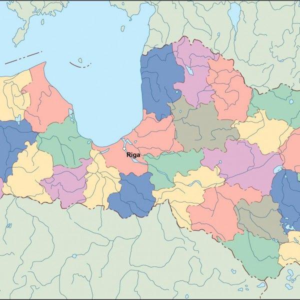 latvia vector map