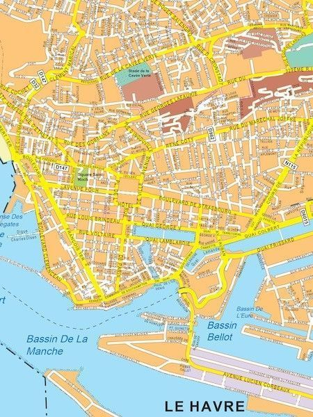Le Havre Map