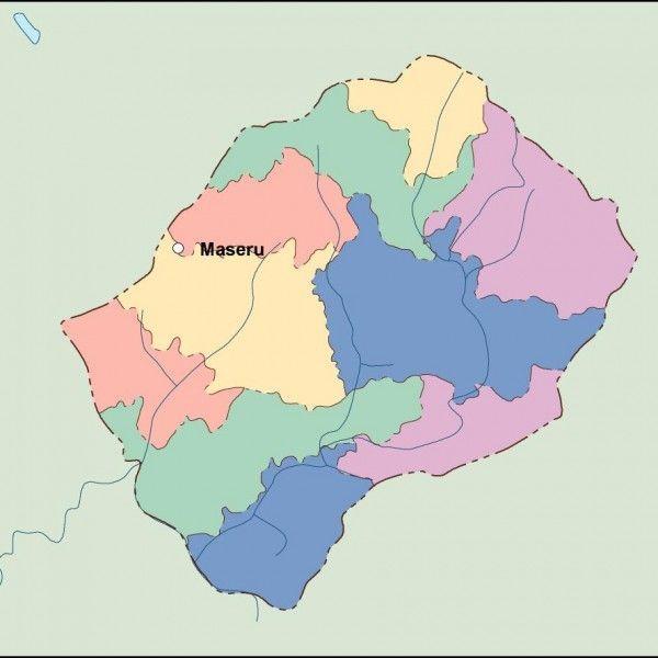 lesotho vector map