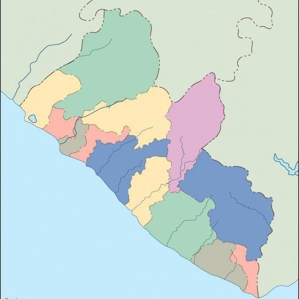 liberia blind map