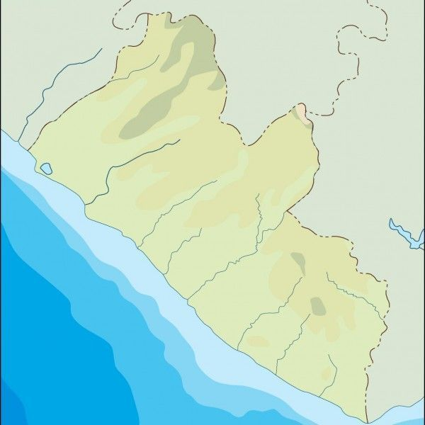 liberia illustrator map