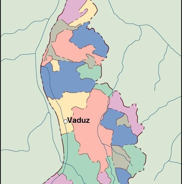 liechtenstein vector map