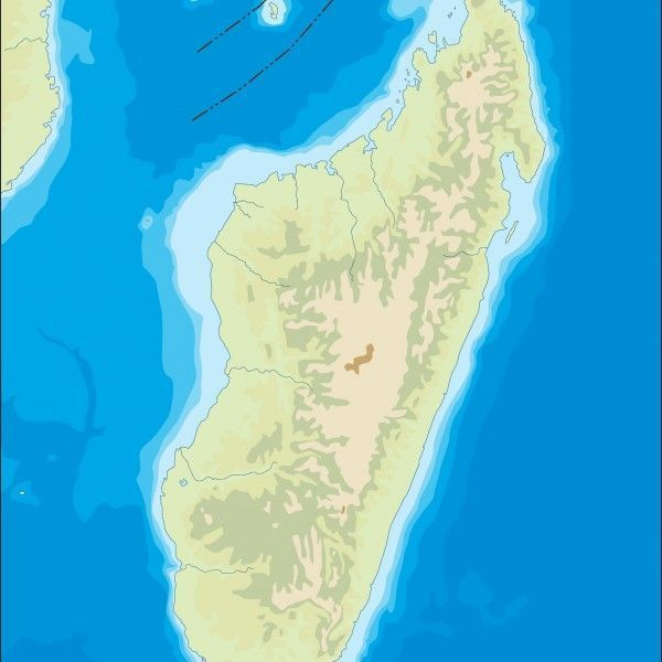 madagascar illustrator map