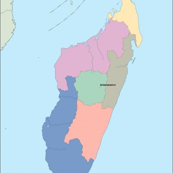 madagascar vector map