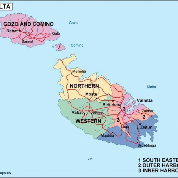 malta political map