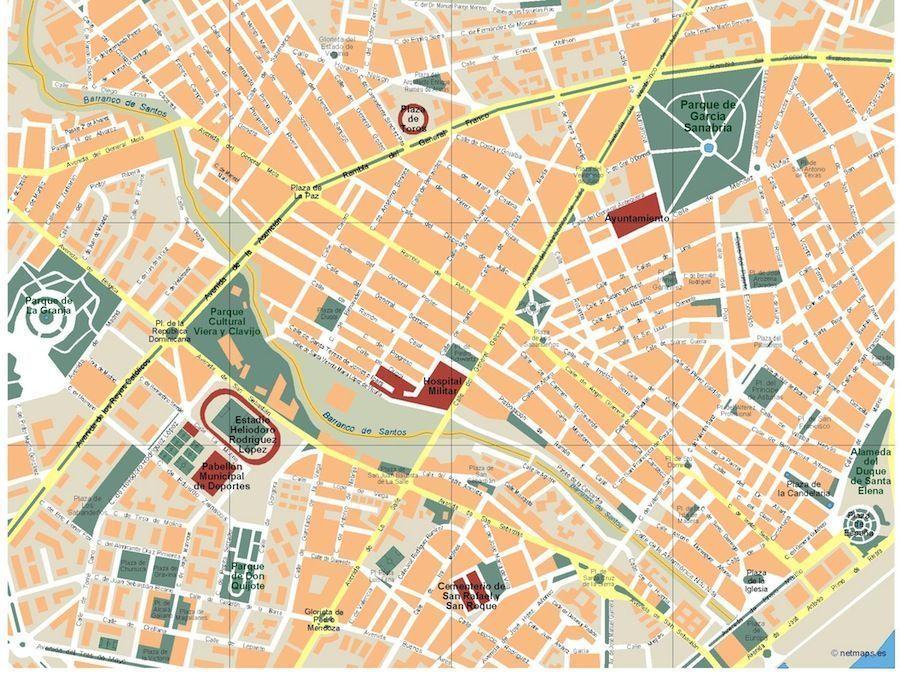 map of santa cruz de tenerife Santa Cruz De Tenerife Vector Map Eps Illustrator Map Digital map of santa cruz de tenerife