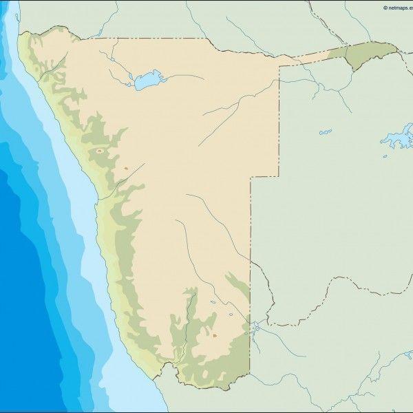 namibia illustrator map