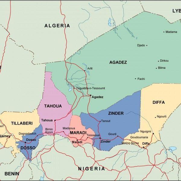 niger political map