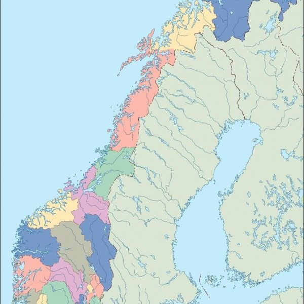 norway blind map