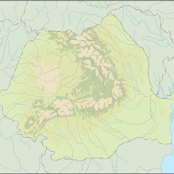 romania illustrator map