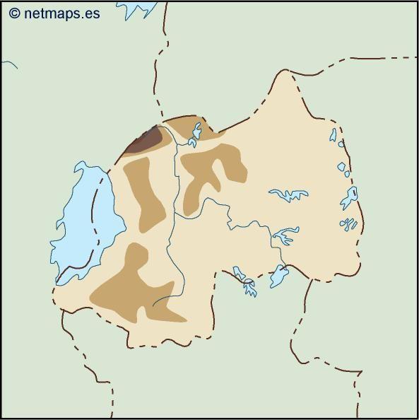 rwanda illustrator map