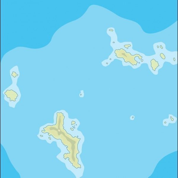 seychelles illustrator map