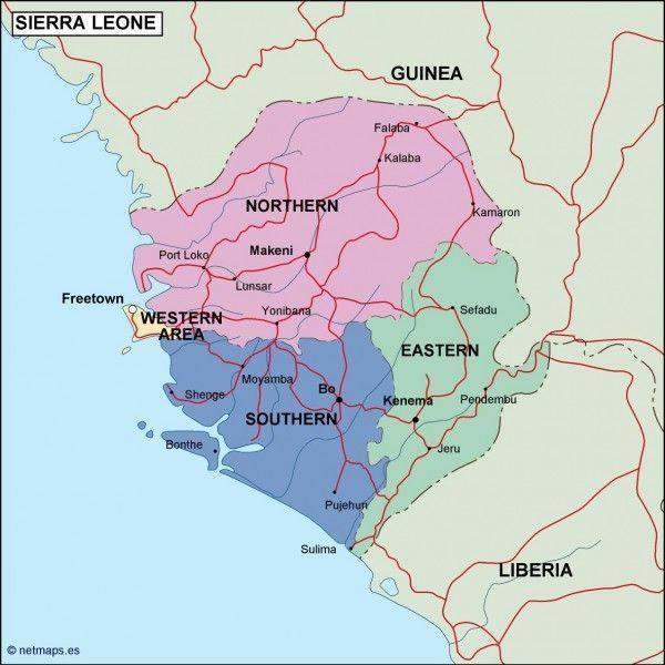 sierra leone political map