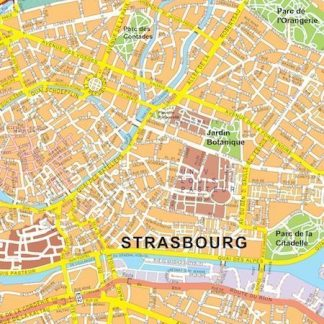 Strasbourg vector map