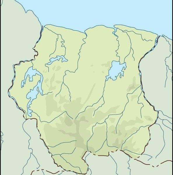 surinam illustrator map