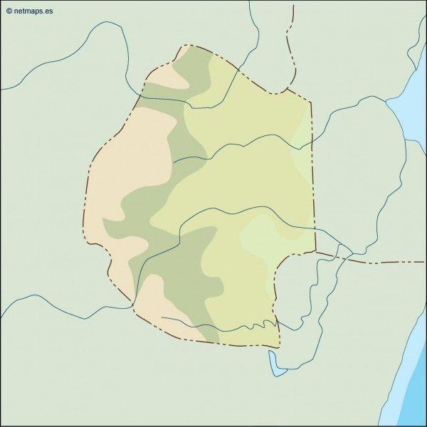 swaziland illustrator map