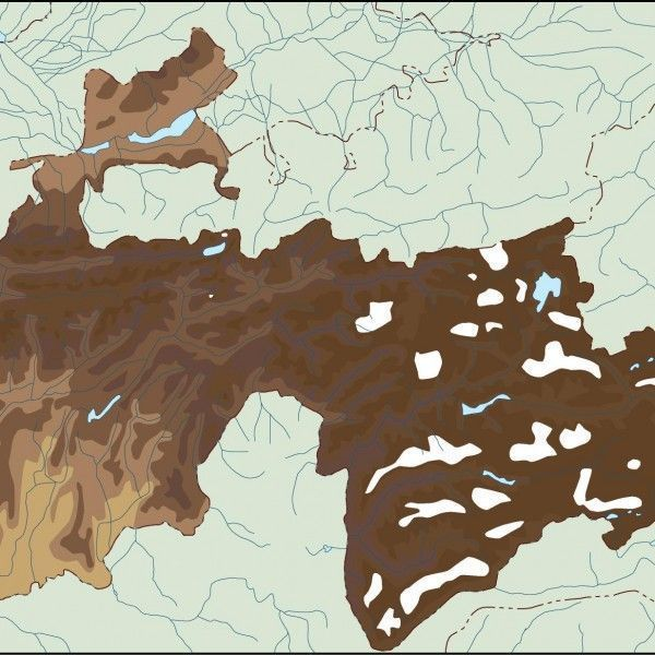 tayijistan illustrator map