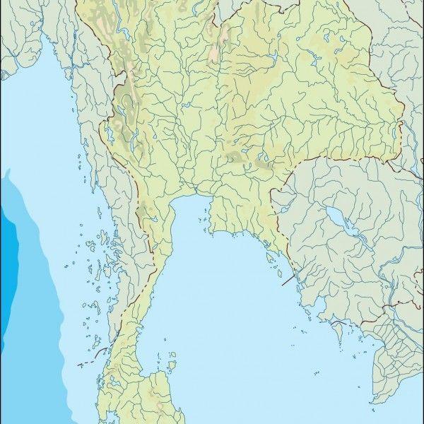 thailand illustrator map