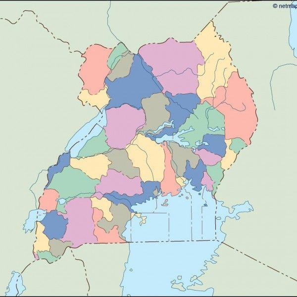 uganda blind map