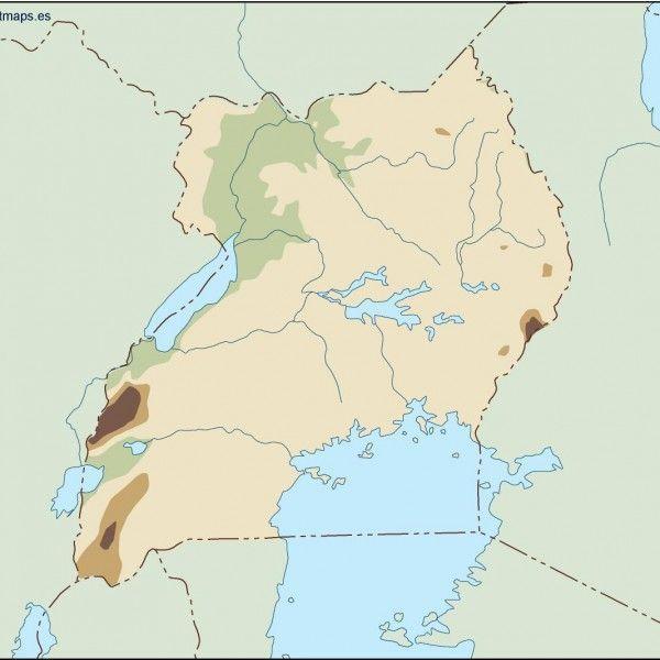 uganda illustrator map