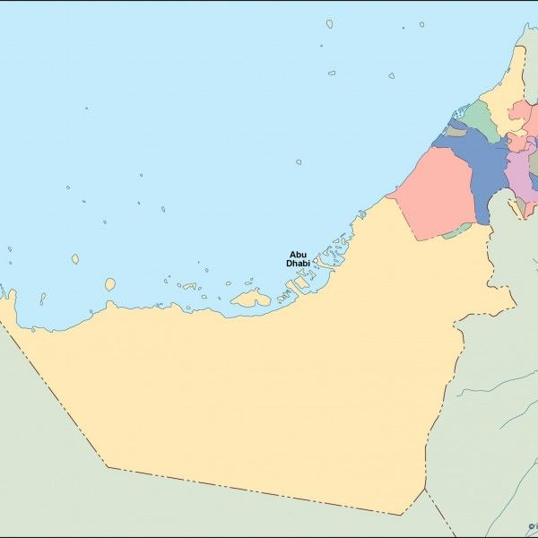 united arab emirates vector map