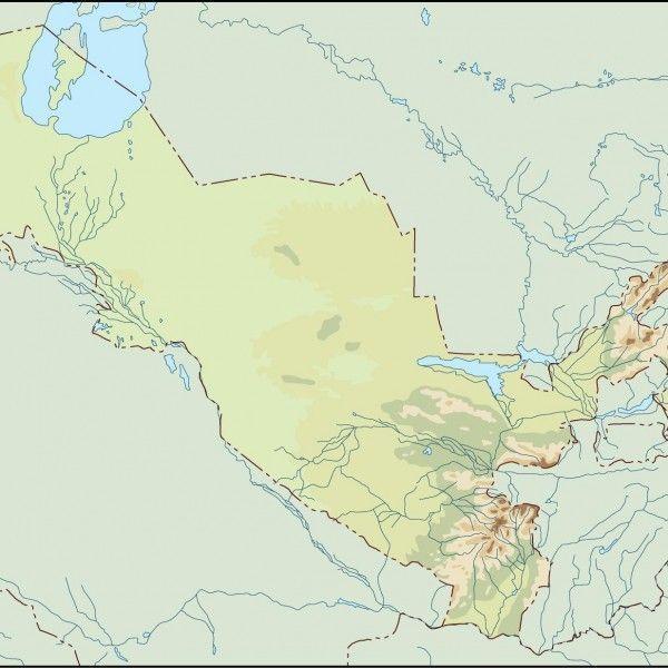 uzbekistan illustrator map