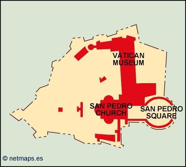 vatican vector map