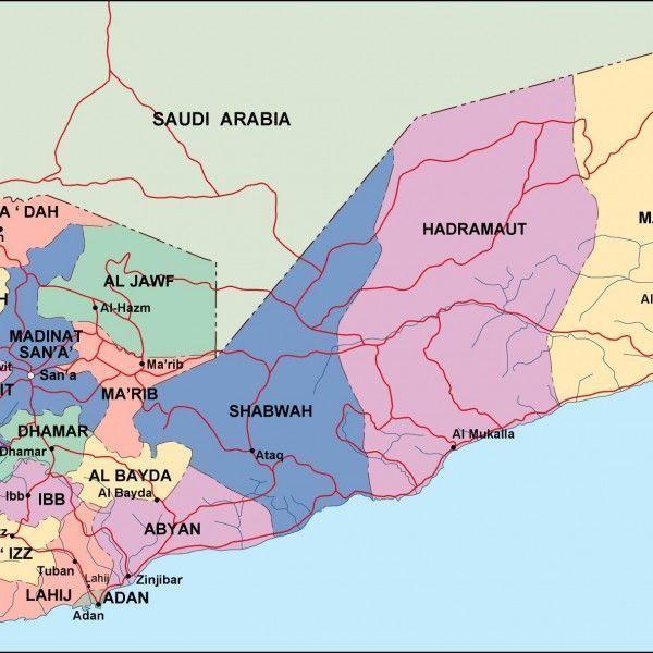 yemen political map
