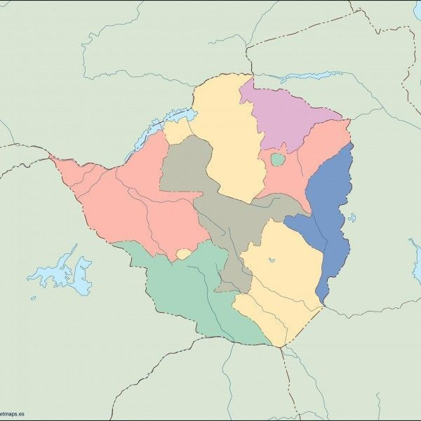 zimbabwe blind map