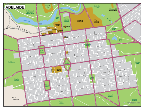 Adelaide EPS map