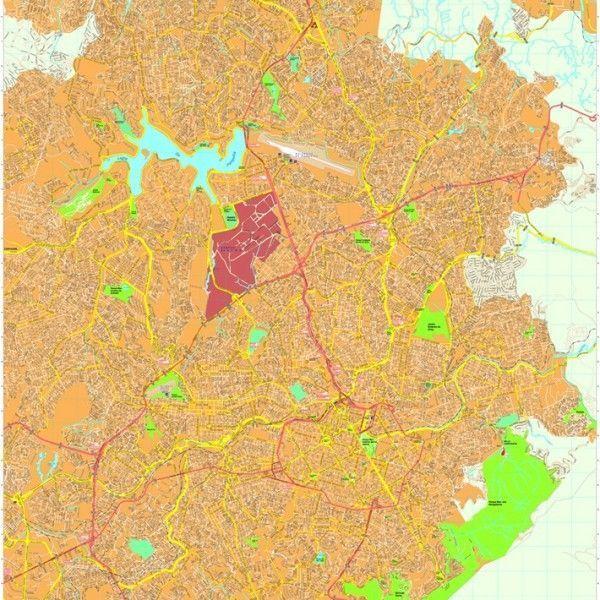 Belo Horizonte vector map