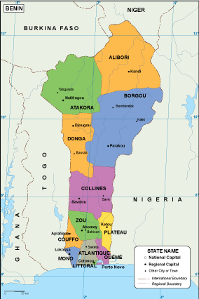 Benin EPS map