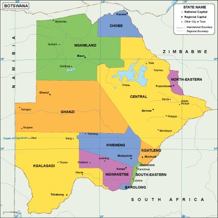 Botswana EPS map