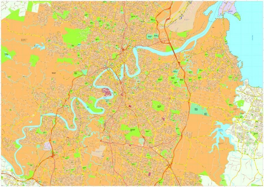 Brisbane Vector Maps