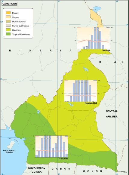 Cameroon climate map on côte d'ivoire map, estonia map, grenada map, monaco map, gambia map, saudi arabia map, rwanda map, madagascar map, ghana map, egypt map, mali map, sudan map, namibia map, croatia map, tunisia map, congo map, algeria map, thailand map, kenya map, angola map, liberia map, cape verde map, morocco map, gabon map, uganda map, africa map, libya map, nigeria map, senegal map, malawi map, ecuador map, comoros map, niger map, ethiopia map, mozambique map, zimbabwe map,