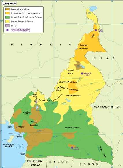 Cameroon vegetation map