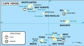 Cape Verde transportation map