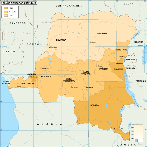 Congo Dem Rep economic map