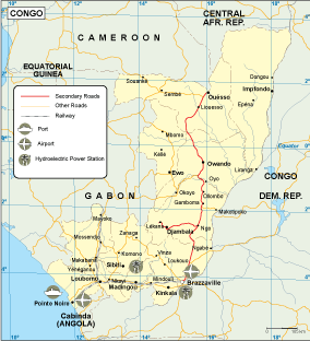 Congo transportation map