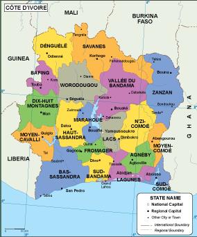 Cote Ivoire EPS map