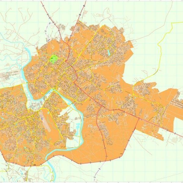 Cuiaba vector map