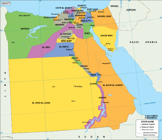 Egypt EPS map