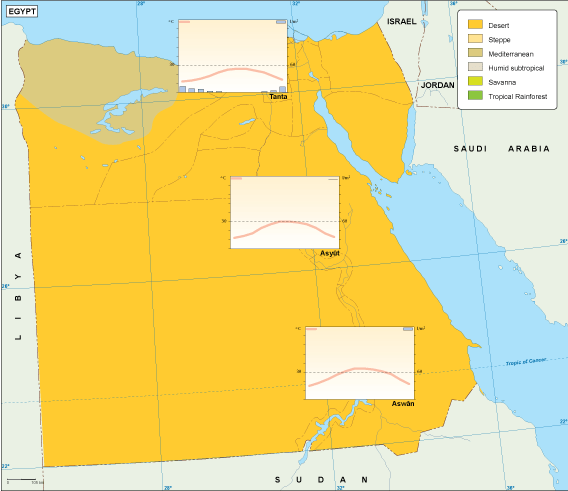 Egypt climate map