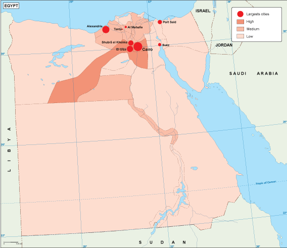 Egypt population map