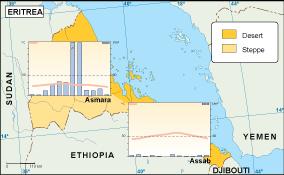 Eritrea climate map