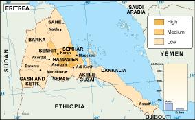 Eritrea economic map