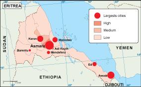Eritrea population map