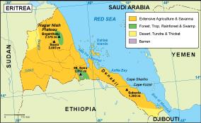 Eritrea vegetation map