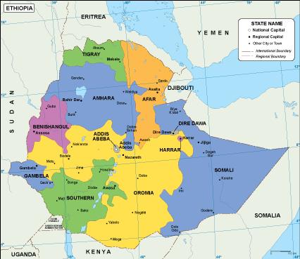 Ethiopia EPS map